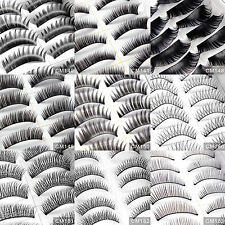 9 Styles 20 Pairs Long False Eyelashes Makeup Fake Thick Black Eye Lashes