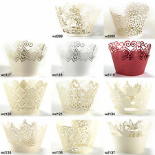 25pcs Cupcake Wrappers Lace Baking Cake Wrap Cups Wedding Birthday Baby Shower