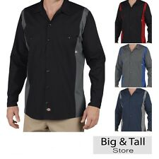 Big Men's Dickies Long Sleeve Two Tone Work Shirt 3XL 4XL
