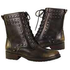 Xelement Mens Stud Slayer Leather Riding Motorcycle Biker Boots For Harley
