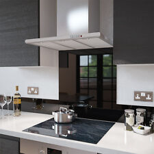 Premier Range Black Toughened Glass Heat Resistant Splashback & Glass Upstands