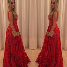 New Long Women Sexy Evening Party Ball Prom Gown Bridesmaid Cocktail Dress 6-18