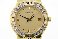 Ladies Wittnauer 12R11 Gold-Tone Stainless Steel Diamond Accent Watch