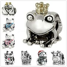 European Animal charms bead For sterling silver solid charm bracelet necklace CA