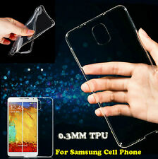 Ultra Thin Soft TPU Gel Silicone Clear Crystal Case Cover For Samsung Phones