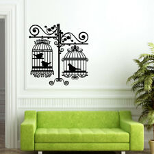 Bird cage wall stickers vinyl decal