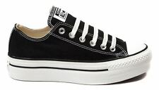 New Converse All Star Lo Platform Women's Sneaker Shoes Black Canvas