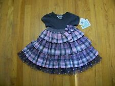 Girls Bonnie Jean Plaid Dress Sizes 2T 3T 4T Toddler  Spring Easter Clothing