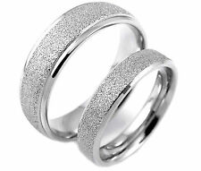1PC Valentine's Day Gift Titanium Stainless Steel Frosted Matt Couple LOVE Ring