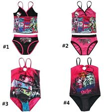 Girls Tankini Set Bikini Swimwear Swimsuit Kids Monster High Bathing Suit 5-14Y