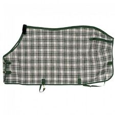 Tough-1 PVC Coated Mesh Tri-Shield Fly Sheet..Green Plaid..Choose Your Size! NEW