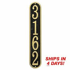 Whitehall PERSONALIZED HOUSE ADDRESS PLAQUE Fast & Easy Vertical Wall Numbers