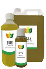 Organic Pure Neem Oil - Base/Carrier/Massage/Inesct Repellant/Nits/Fleas/Lice