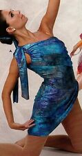NWT Iridescent Contemporary gathered side style line ch/ladies Dance Costume