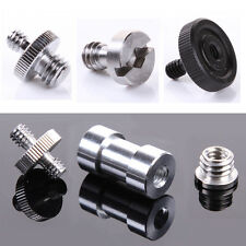 "1/4"" 3/8' Male Female Threaded Screw Adapter For Camera Tripod Flash Plate Stand"