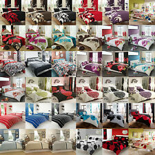 Luxury Duvet Covers With Pillow Case Bedding Set Single Double King Super King