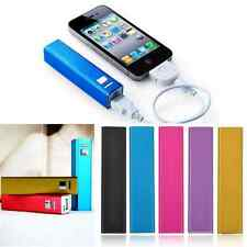 USB External Backup Battery Charger Power Bank For Cell Phone 2600mAh Portable