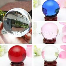 60mm Asian Rare Natural Quartz Magic Clear Crystal Healing Ball Sphere + Stand