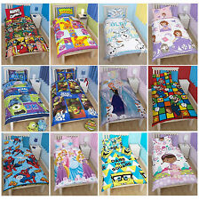 Disney & Kids Character Single Rotary Bed Duvet Quilt Cover Set New FREE P+P