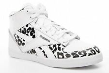 Reebok Hazelboro Mid Hi Top Trainers Sneakers White Black Leopard Print Animal