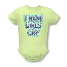 I Make Girls Cry Infant Snapsuit Onesie One Piece Soft Green