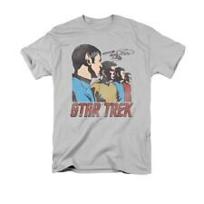 Star Trek Federation Men Short Sleeve T-Shirt Adult Silver Gray