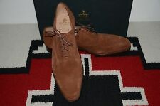 Crockett & Jones Made in England Dover Light Suede Brown Leather Dress Shoes
