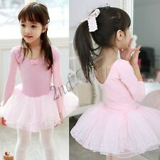 Girls Kids Ballet Tutu Skirt Dress Leotard Dancewear Skate Dance Costume SZ 2-7