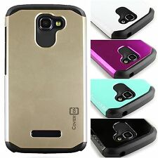 For ALCATEL One Touch Fierce 2 / Pop Icon Tough Hard Hybrid Layer Cover Case