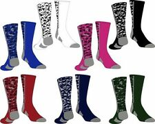 NEW! Digital Camo Baseball Football Basketball Sport Crew Men Youth Socks Elite