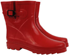 Red Short Gumboots Wellies Ladies Womens Boot Rainboots Size 6 7 8 9 10 11 New
