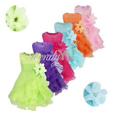 Baby Girls Communion Party Prom Princess Pageant Bridesmaid Wedding Flower Dress