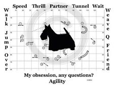 Scottish Terrier Dog Agility Course - My Obsession, Any Questions? T-shirt