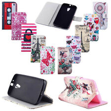 Pretty Patterned Leather Flip Money Wallet Stand Pouch Soft TPU Skin Case Cover