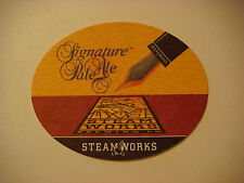 Beer Bar Coaster ~ STEAMWORKS Brewing Co Signature Pale Ale <> Vancouver, CANADA