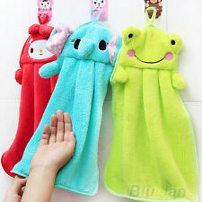 Children Nursery Hand Towel Soft Plush Cartoon Animal Hanging Wipe Bathing Towel