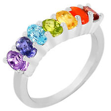 Healing Chakra 925 Sterling Silver Ring Jewelry AAACP143