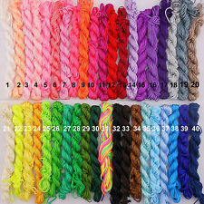 40 Colors 1.5 mm Nylon Chinese Knotting Rattail Beading Thread Rope String Cord