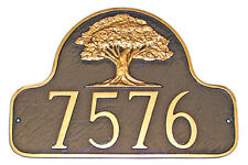 Oak Tree Address Plaque Lawn Marker House Sign Numbers wall Custom Made 2 order