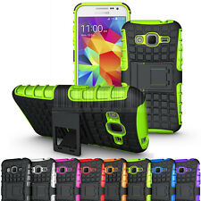 Rugged Armor Hybrid Case Stand Cover For Samsung Galaxy Core Prime Prevail LTE