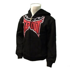 Tapout Kids Boys Combat Hoodie UFC MMA Ultimate Fighter New Black Ages 4 - 6
