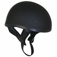 Outlaw Flat Black Cruiser Half Motorcycle Helmet For Harley Davidson (XS-2XL)