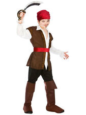 Boys Pirate Costume Kids Caribbean Fancy Dress Outfit Age 5 6 7 8 9 10 11 12 13