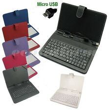 "7'' 9"" 10.1''Inch PU Leather Case Cover USB Keyboard Stand for Android Tablet PC"