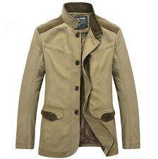 NEW Men's coats casual cotton jacket collar coat Windbreaker