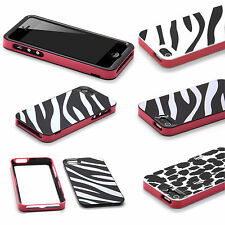 NUOVO 2 PEZZI Armour ANIMAL PRINT HARD BACK CASE COVER PER APPLE IPHONE 5 5S