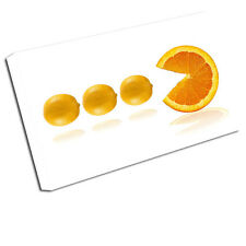 Toile Alimentaire Imprimer Fruit Pacman Citrons Photo d'Art