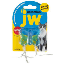 JW Pet Cataction BUTTERFLY Catnip Infused Cat Toy COLORS MAY VARY