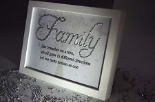 Family Like Branches , Sparkle Word Art Pictures, Quotes, Sayings, Home Decor