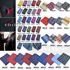 Men's Pocket Square Hankerchief Korean Paisley Dot Floral Hanky Wedding Party